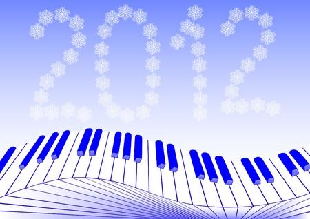 image of keys piano new year Vector