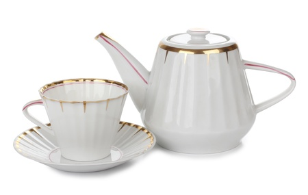 Color photo of china cups of tea photo