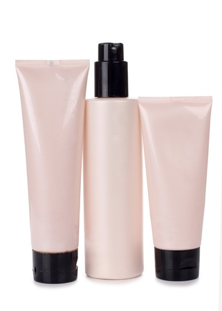 Color picture tubes of pink and cream photo
