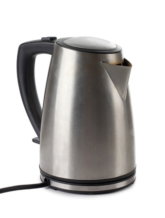 Color photo of metal kettle photo
