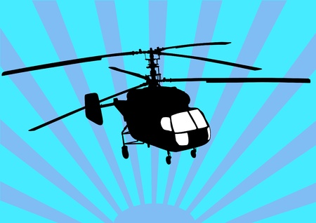 the air attack: drawing a helicopter in sky