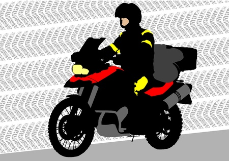 a tourist motorcycle Vector