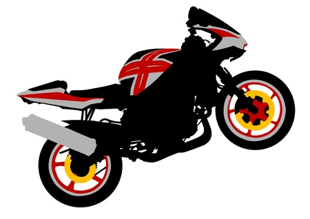 Vector drawing a sport motorcycle Vector
