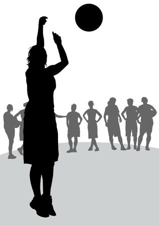 basketball girl: Concursos de dibujo vectorial en el baloncesto