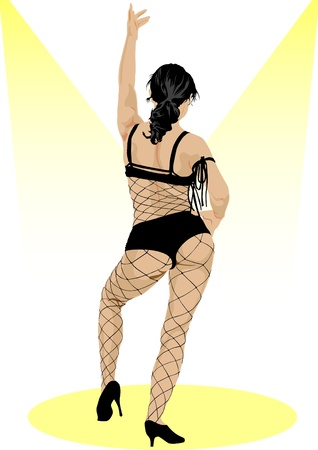 Vector drawing slim and beautiful girls in bikini Stock Vector - 11813883