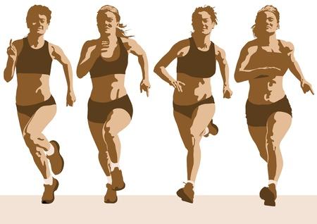 La competencia de dibujo vectorial ejecuta entre las mujeres