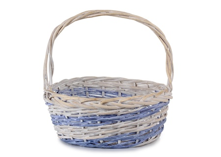 Color photo of a wooden wicker basket photo
