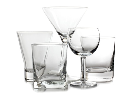 empty glass: Color photograph of empty glasses of wine