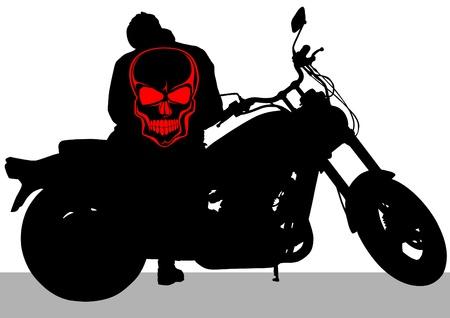 motociclista: Vector disegnare una grossa moto su strada