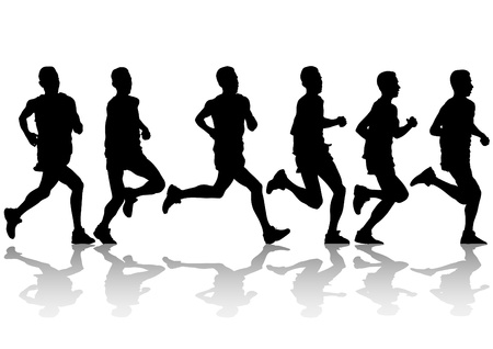 running race: Vector drawing competition on run