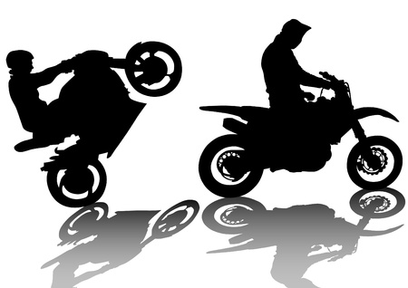 Vector drawing a extreme road motorcycle Vector