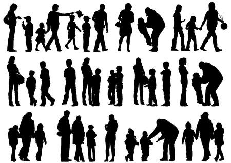Les parents de dessin vectoriel et Childs Vecteurs