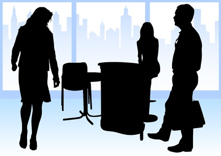 large office: Vector image of businessmen in a large office Illustration