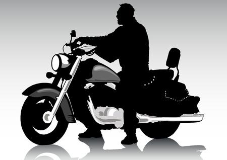 motorcyclist: De dibujo vectorial de una motocicleta de turismo Vectores