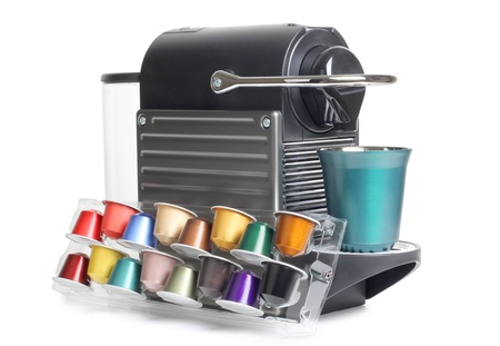 Color photo of a home coffee machines Stock Photo