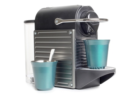 Color photo of a home coffee machines photo