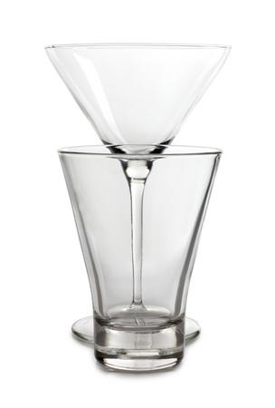 Color photograph of empty glasses beaker Stock Photo - 12864242
