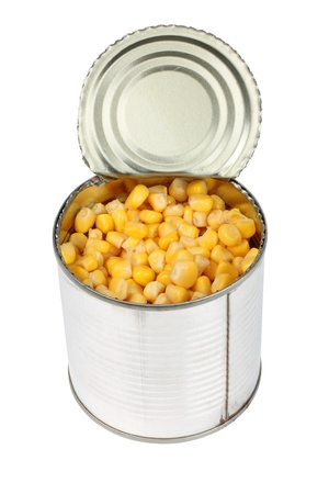 Color photo of a grain in metal tin photo