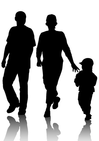 Vector drawing parents and childs Vector