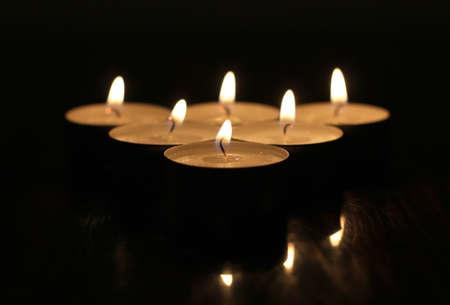 candles on a wooden table Stock Photo - 13196731