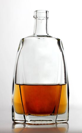 whisky bottle: glasses of whiskey with ice