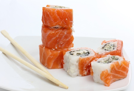 fish sushi on a plate Stock Photo - 13196748