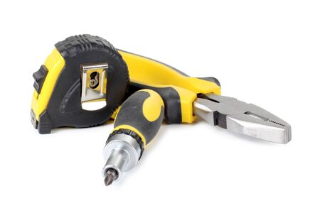 Color photo of a screwdriver and ruler Stock Photo - 13318357