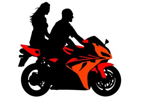 het tekenen van een toeristische sportmotorfiets Vector Illustratie