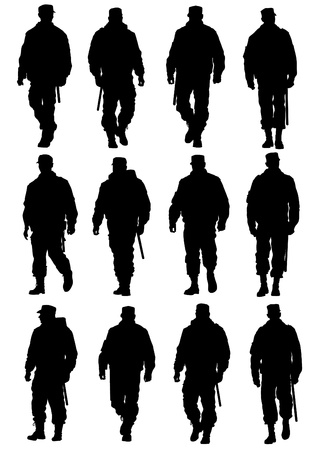 weapons: image of police in form of protective Illustration