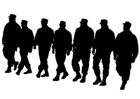 imago van de politie in de vorm van beschermende Stock Illustratie