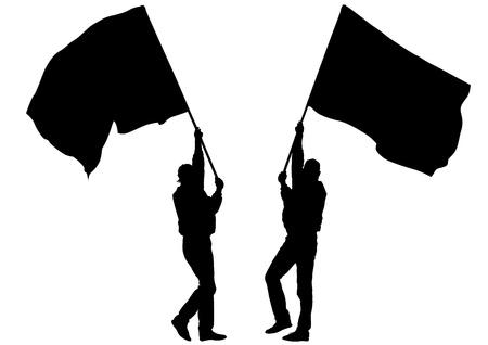 solid figure: grandi folle disegno a bandiera