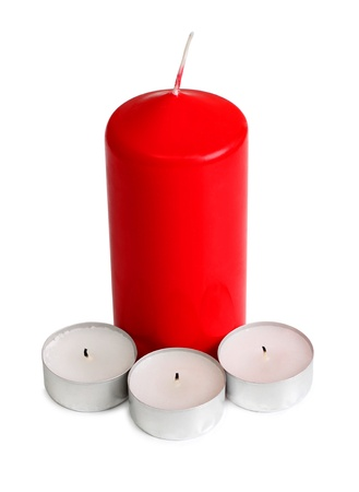candles on white Stock Photo - 13507015