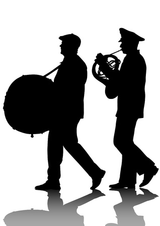 image of a large military orchestra Vector