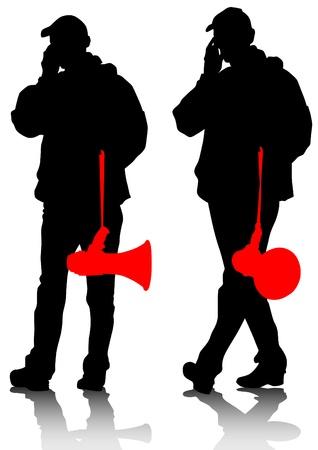 activism: dibujo de un hombre adulto con un meg�fono