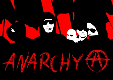 anarchy: Drawing crowds with banners and flags