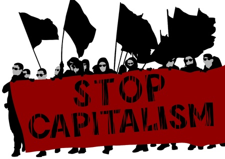 rebeldia: La gente de dibujo ápice bandera roja