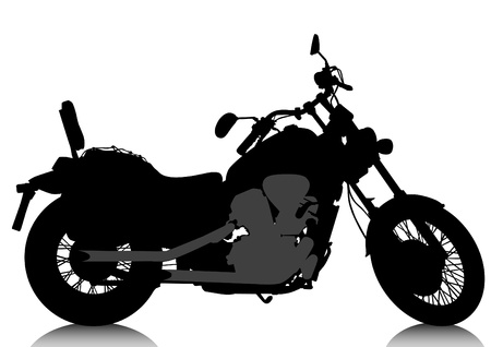 Drawing a big black motorcycle Vector