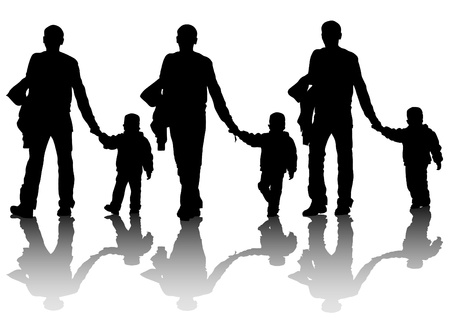 Drawing parents and kids Vector