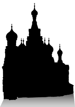Drawing of Russian Christian Cathedral Stock Vector - 13563452