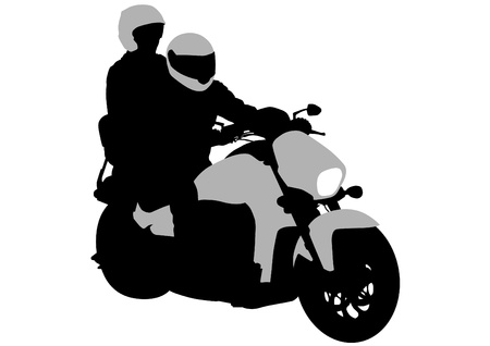Drawing a tourist motorcycle Stock Vector - 13563451