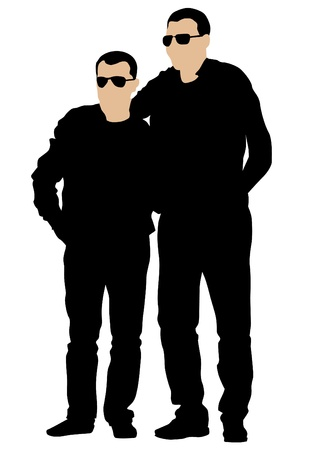 image of two men coming Stock Vector - 13594697