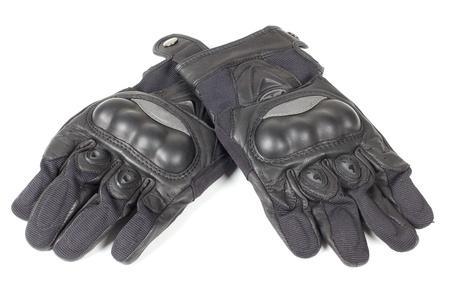 Kleurenfoto van leer motorfiets handschoenen
