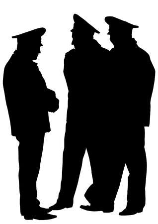 body guard: image of police in form of protective Illustration