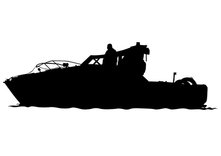 Vector drawing of a large sea boat Vector