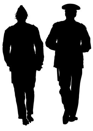 Vector image of police in form of protective Stock Vector - 14913309