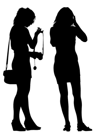 image of people with cameras Vector