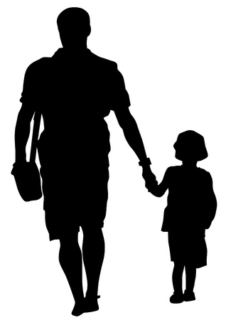 child's: Vector drawing parents and childs Illustration
