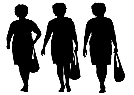 Vector image of women with shopping bags Stock Vector - 15488624