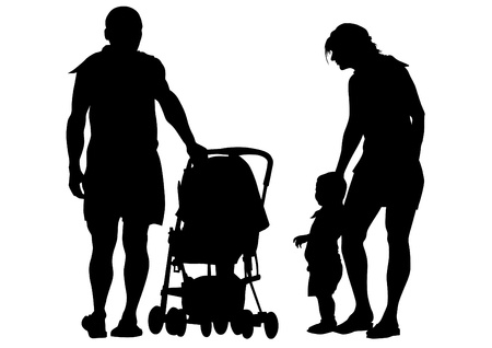 mentor: Vector drawing parents and child