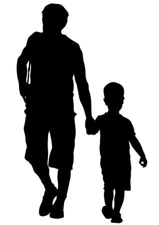 father and son: drawing parents and childs